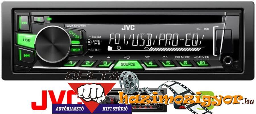 JVC KD-R469 MP3/CD RÁDIÓ USB-VEL