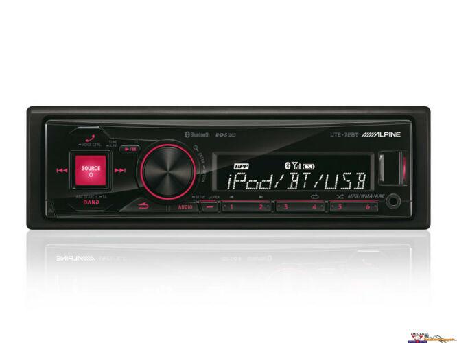 ALPINE UTE-72BT Rádió USB/iPod vezérléssel