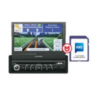 Macrom M-DVD6560 + NAVIGÁCIÓ 1 DIN méretû multimédia + navigációs kártya