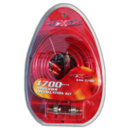 XXX XBMS-1700 kábelszett kábel szett 8mm2                                                                                 (RCA kábel; tápkábel +,-; saruk; biztosítékház biztosítékkal)
