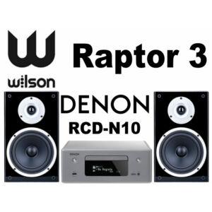 Denon RCD-N10 + Wilson Raptor 3 sztereó szett