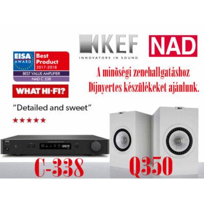 NAD C338 sztereó erősítő + KEF Q350 hangfal szett
