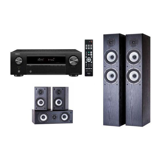 Denon AVR-X250BT erősítő + WILSON CINEMATIC 5.0 hangfal szett