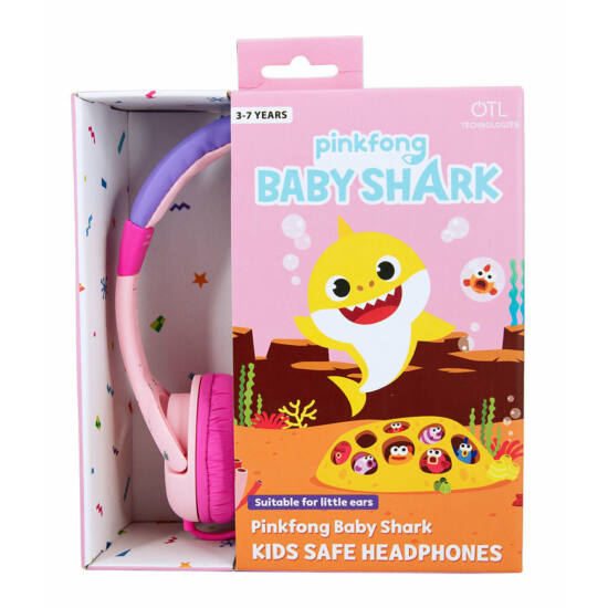 PINKFONG AND BABY SHARK / PINK vezetékes fejhallgató kisgyermekek számára