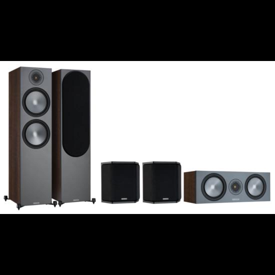 Monitor Audio Bronze 500 (6G) 5.0 hangsugárzó szett dió szín