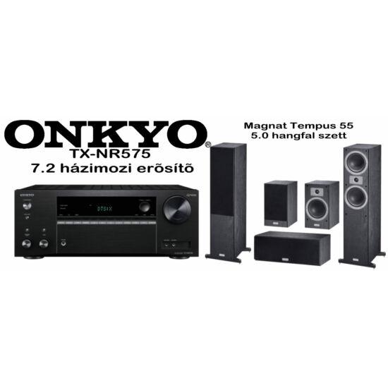 Onkyo TX-NR575 7.2 csatornás AV rádióerősítő + Magnat Tempus 55 hangfal szett