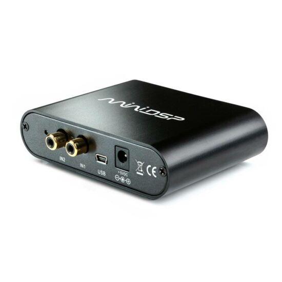 miniDSP 2x4 HD Boxed Digital Signal Processor mélysugárzókhoz szoba EQ, DAC
