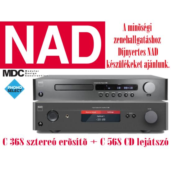 NAD C368 sztereo erősítő + C568 CD lejátszó szett