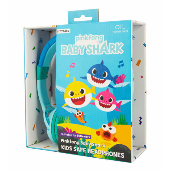 PINKFONG AND BABY SHARK / Blue vezetékes fejhallgató kisgyermekek számára