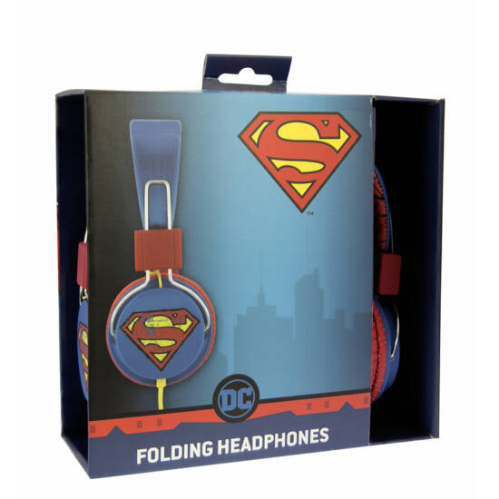 VINTAGE SUPERMAN vezetékes fejhallgató kisgyermekek számára