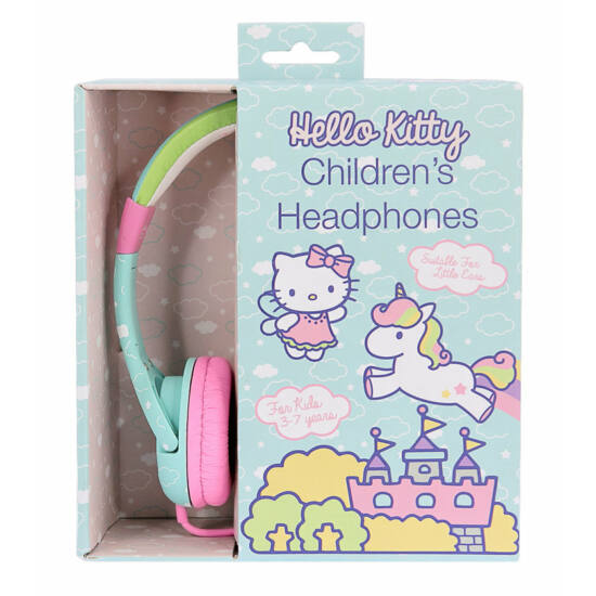 HELLO KITTY UNICORN vezetékes fejhallgató kisgyermekek számára