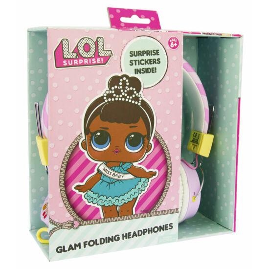 LOL SURPRISE GLAM CLUB vezetékes fejhallgató kisgyermekek számára