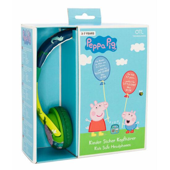 Peppa malac DINO GEORGE vezetékes fejhallgató kisgyermekek számára