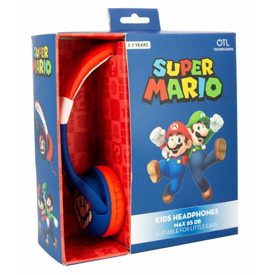 SUPER MARIO vezetékes fejhallgató kisgyermekek számára