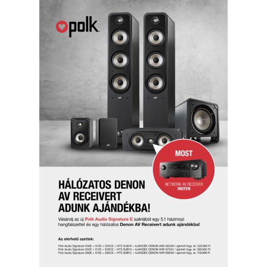 Polk Audio Signature S50E + S10E + S30CE + HTS SUB10 + DENON AVR-S650H