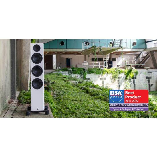 System Audio SA legend 40.2 silverback Aktív padlón álló négyutas zárt hangsugárzó pár WiSA hitelesítéssel