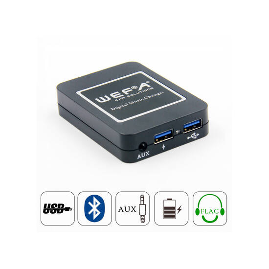 Wefa WF-606 Bluetooth/MP3/USB/AUX illesztő (Nissan)