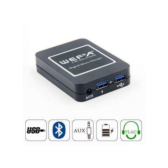 Wefa WF-606 Bluetooth/MP3/USB/AUX illesztő (Peugeot, Citroen, RD3)