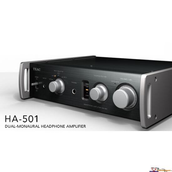 TEAC HA-501 Teljesen analóg, A-osztályú kettős mono fejhallgató erősítő