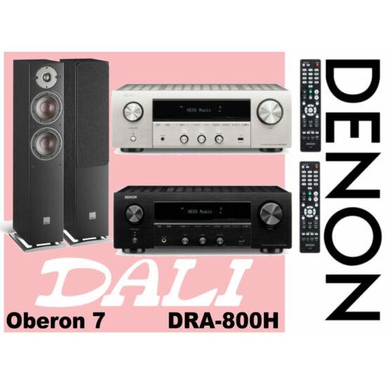 Denon DRA-800H sztereó erősítő + Dali Oberon 7 hangfal pár szett