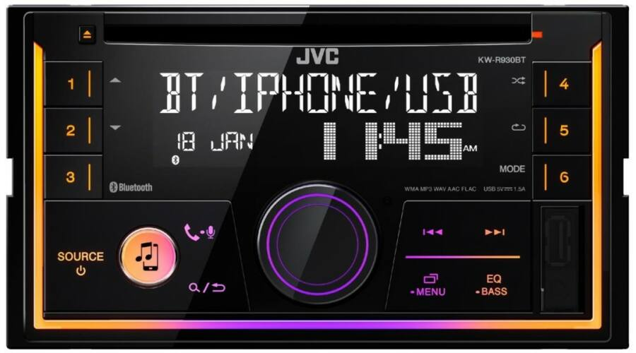 Jvc Kw R930bt 2din Bluetooth Usb Cd Mp3 Aut 211 R 193 Di 211